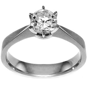 SOLITAIRE RING i 18K