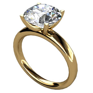 Solitaire ring i 18K Guld